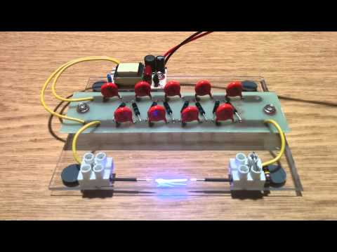 CCFL power supply and Cockroft-Walton multiplier.
