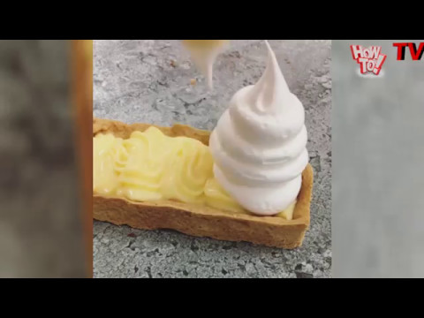 Most Satisfying clip....food combination ...cake // pastry