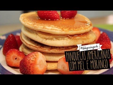 #blogringCH: panquecas americanas com mel e morango