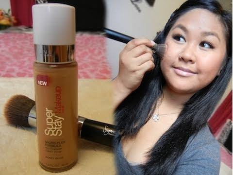 Maybelline Superstay 24HR Foundation Review & Demo - YouTube