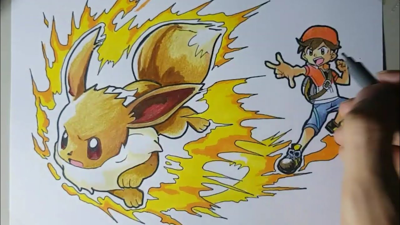 Draw Eevee from Pokémon: Let's Go Pikachu! & Let's Go ...