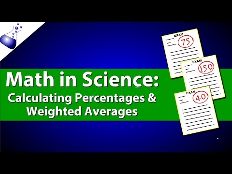 Math in Science: Calculating Percentages and Weighted Averages