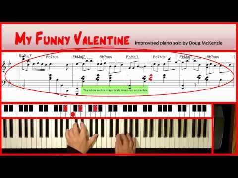 'My Funny Valentine' Solo jazz piano tutorial