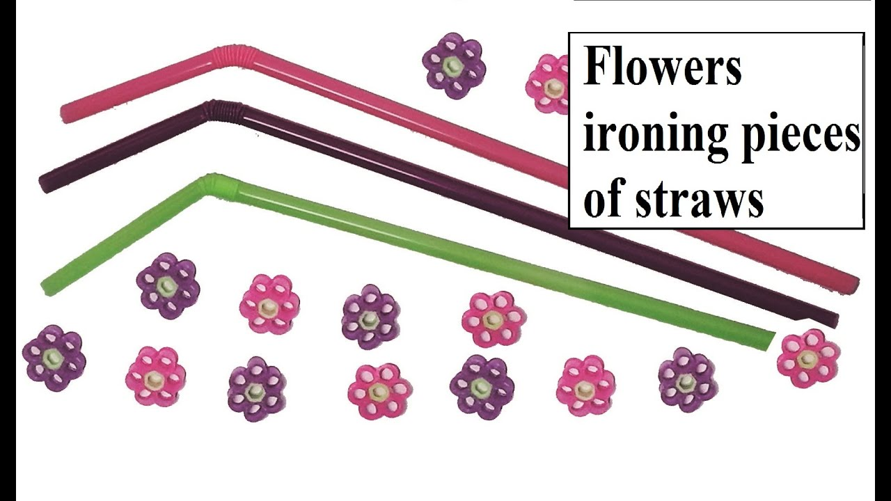 How To Make Flowers With Straws Without Using Hama Beadseasy Method Of  Ironing