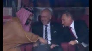 رد فعل ولي العهد السعودي والرئيس بوتين ورؤوف خليف على نتيجة مباراة روسيا والسعودية 5-0