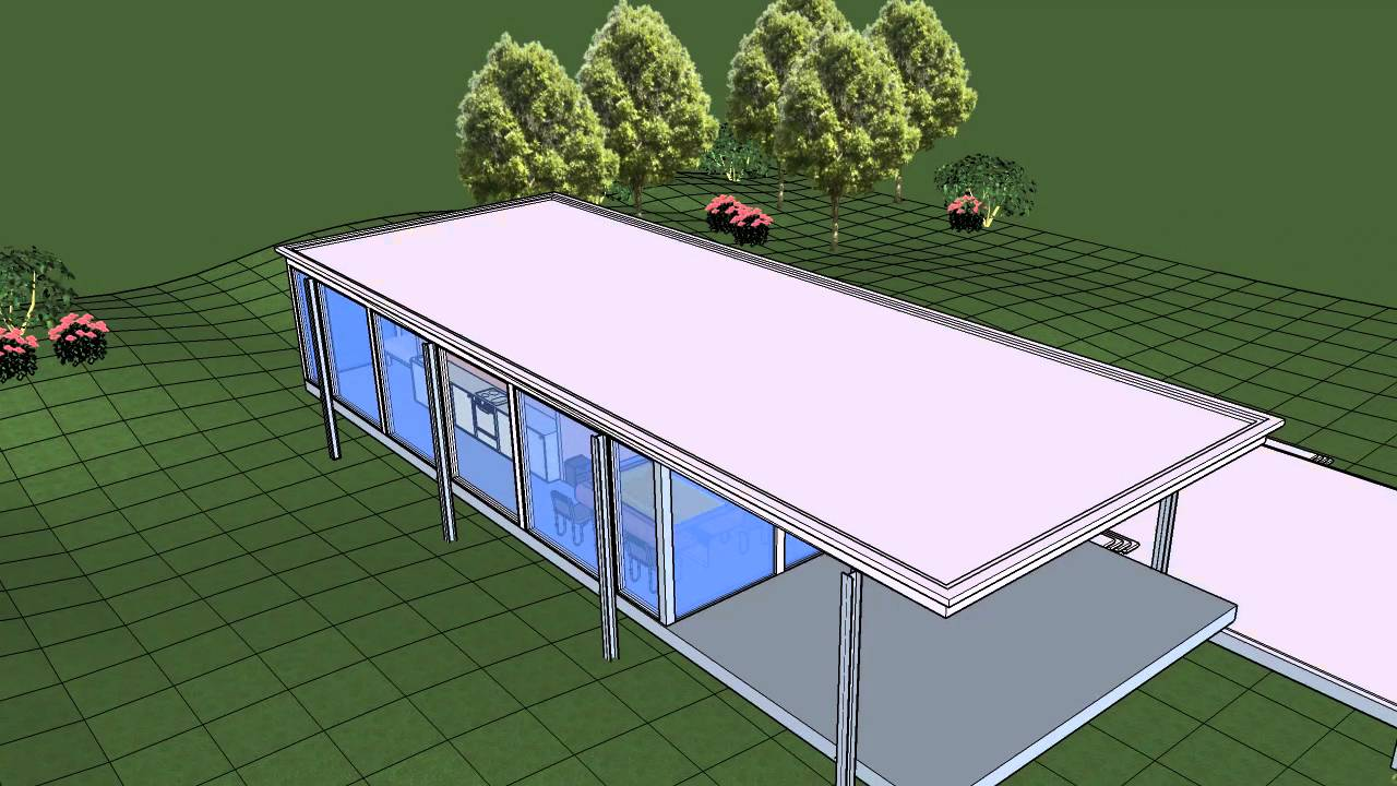 Farnsworth house  SketchUp  YouTube