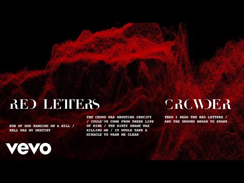 Crowder - Red Letters (Lyric Video) Mp3