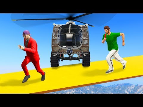 SURVIVE THE HYBRID HELICOPTER CHASE! - GTA 5 Funny Moments