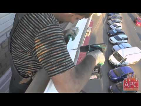 Технология утепления металлического парапета балкона под ключ