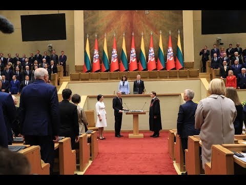 2019-07-12 Respublikos Prezidento Gitano Nausėdos priesaikos priėmimo ceremonija