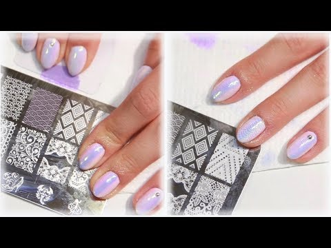 Stamping With Gel Polish?!  -  Pastel Ombre Aurora Nail Art