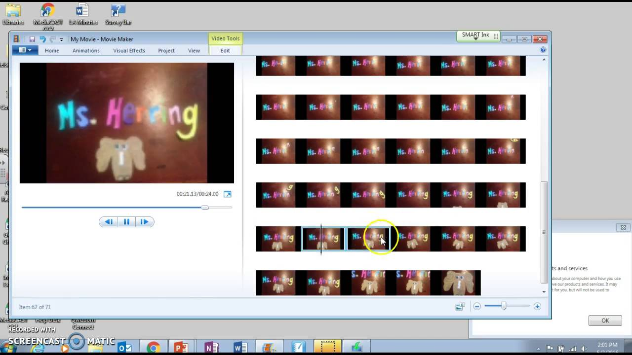 How To Edit Stop Motion With Windows Movie Maker Youtube
