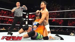 The Usos team up with Naomi to square off against The Miz, Damien M...