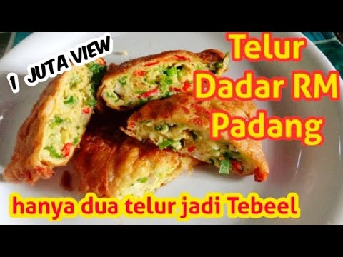 Resep Telur Dadar RM Padang | Resep Masakan Indonesia Sehari Hari