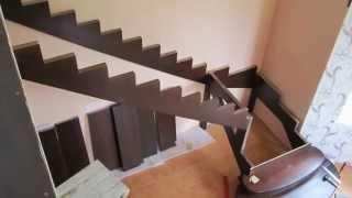 Монтаж деревянной лестницы(Монтаж деревянной лестницы., 2013-09-02T13:07:12.000Z)
