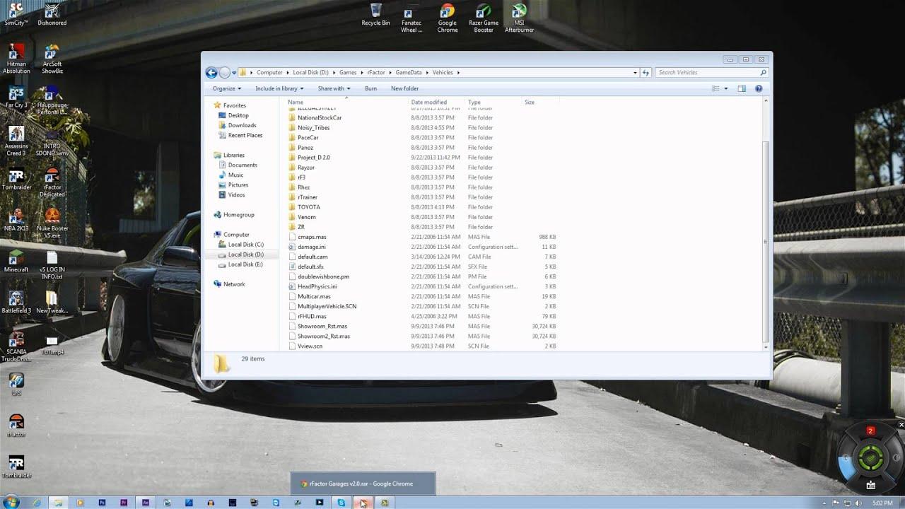 How to install custom rFactor UI's | rFactor Tutorial | LKD by LooNiE