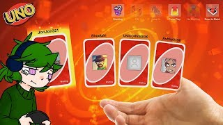 Biggest Hand In UNO! : Uno Funny Moments