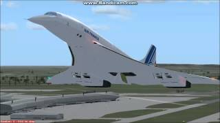 FSX Concorde Air France Full Flight: Paris Charles de Gaulle - New York Kennedy Intl. Airport