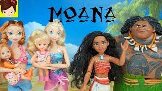 Elsa y Anna Conocen a MOANA - La Bebe de Anna  Casi se Ahoga - Pelicula Moana thumbnail