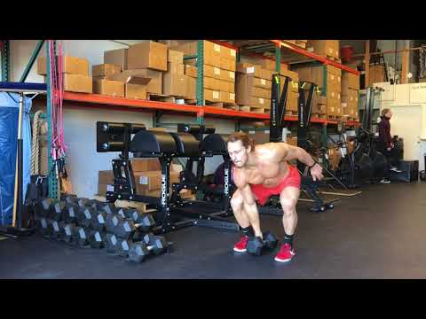Single Arm DB Power Clean and Jerk