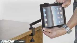Clamp mount for Apple iPad 3rd Generation, iPad 3, iPad 2 and Tablets | Arkon TAB804