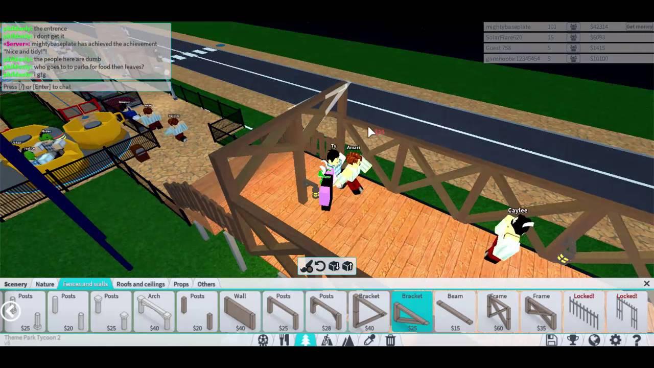 ROBLOX Theme Park Tycoon 2- Bridge Tutorial