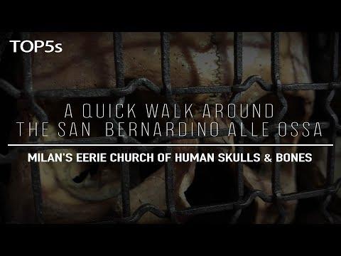 A Quick Walk Inside Milan's Haunting Church Of Human Skulls & Bones | The San Bernardino