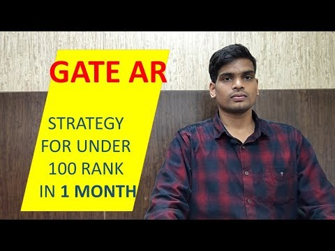 How to GET GOOD RANK in GATE Architecture & Planning from YouTube · Duration:  3 minutes 30 seconds