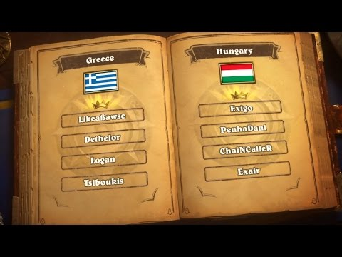 Greece vs. Hungary - Group D - Match 2 - 2017 Hearthstone Global Games  - Week 2
