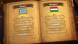 Greece vs. Hungary - Group D - Match 2 - 2017 Hearthstone Global Games  - Week 2