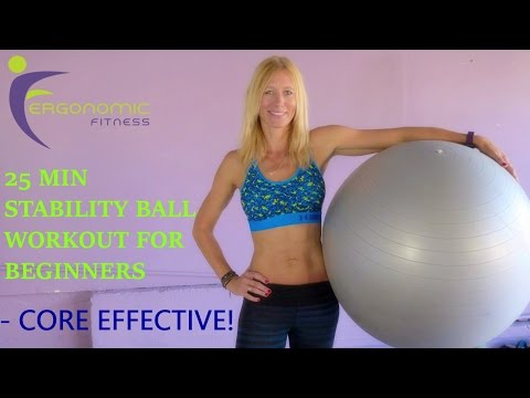 STABILITY BALL WORKOUT FOR BEGINNERS! - 25 Minutes