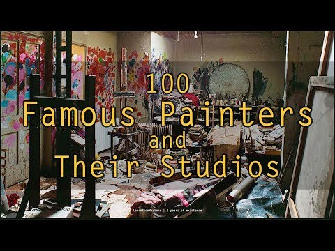 100 Famous Painters and Their Studios | LearnFromMasters - 2 years of existence (HD)