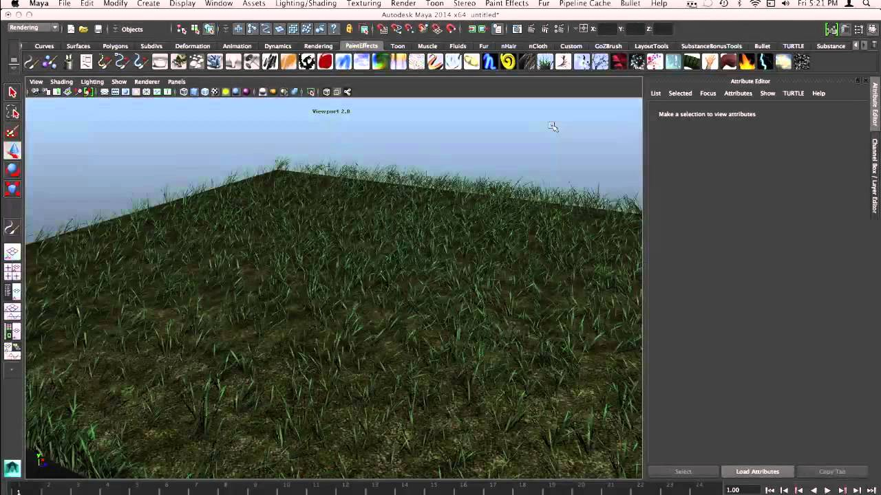 how to put grass in maya