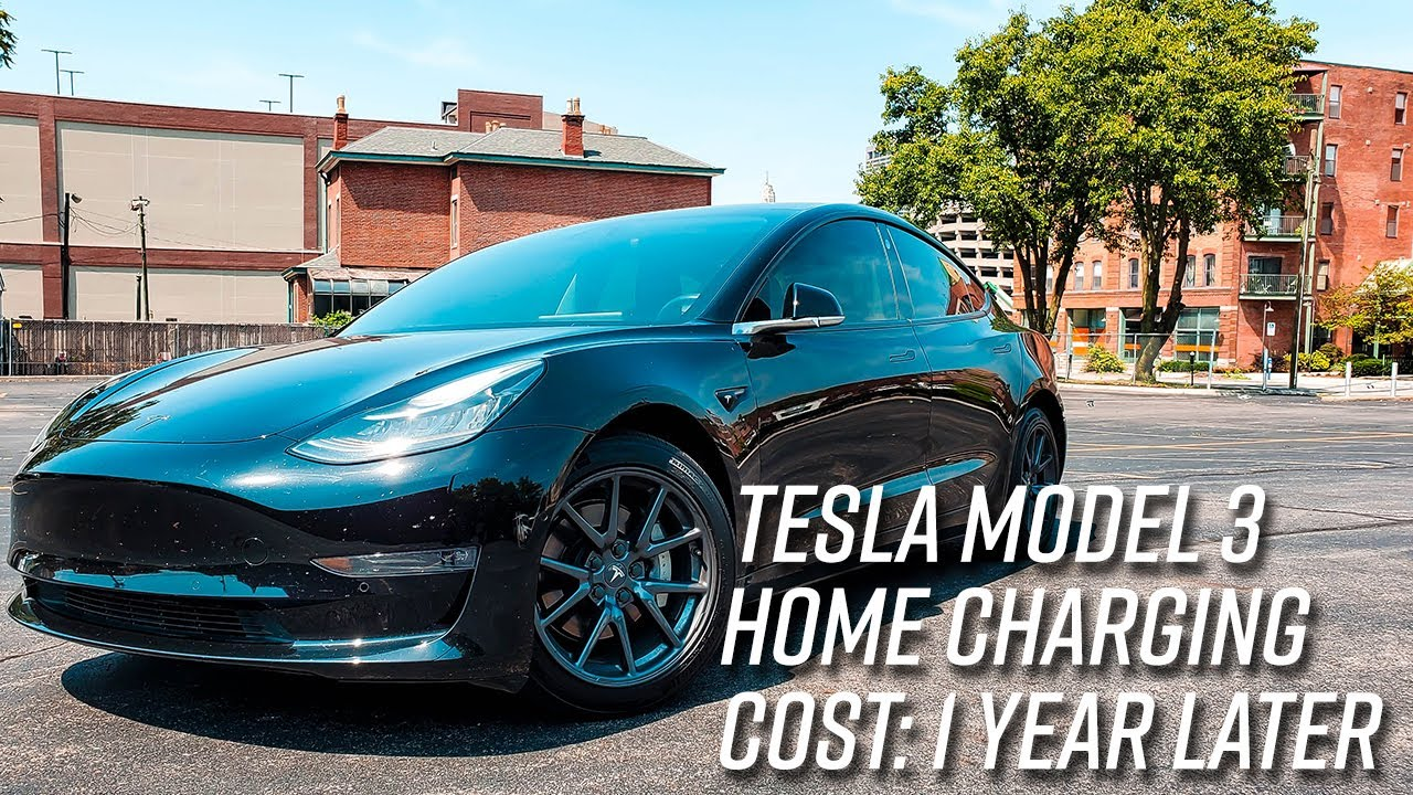 Tesla Model 3 Charging At Home Cost   1 Year Later Data ...
