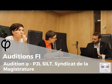 PJL SILT - Audition du Syndicat de la Magistrature - 1er septembre 2017