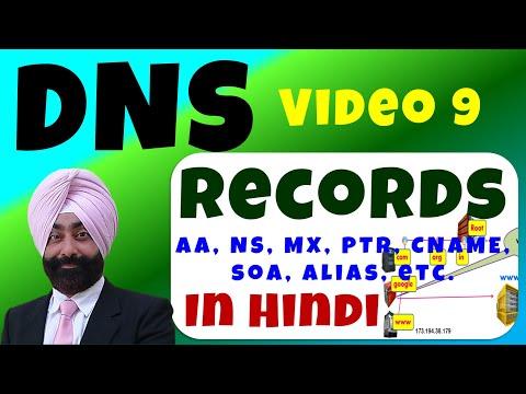 DNS Records In Hindi - DNS रिकॉर्ड - Video 9