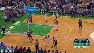 Boston Celtics Defensive Highlights vs San Antonio Spurs (10/30/2017)