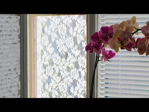 Make a Lace Curtain Fly Screen - DIY Home - Guidecentral