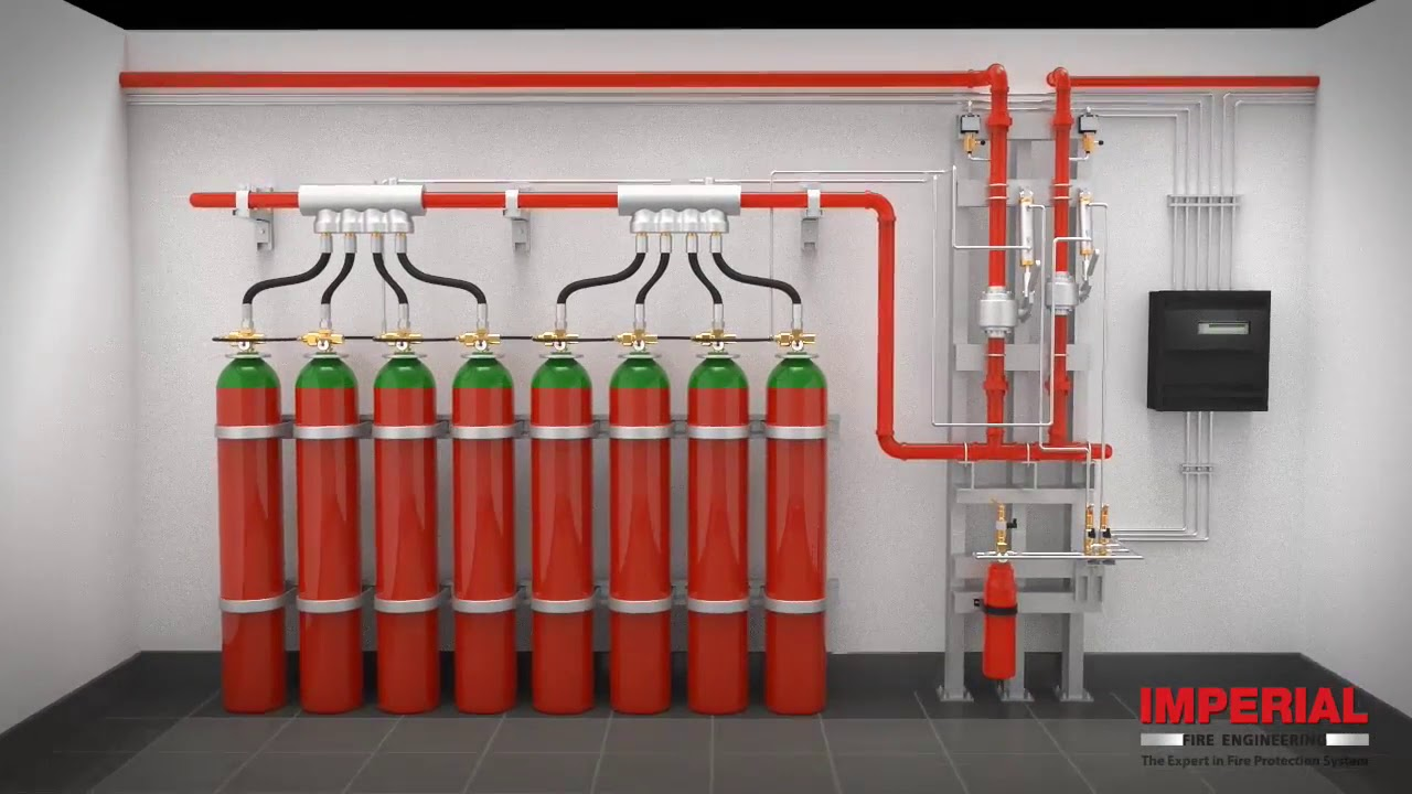 Gas Fire Suppression System Simulation