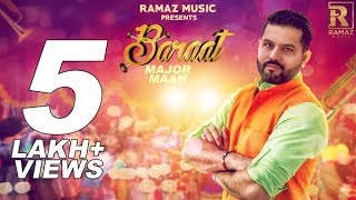 Baraat - Major Maan    New Punjabi Song 2017    Aman Hayer    Ramaz Music