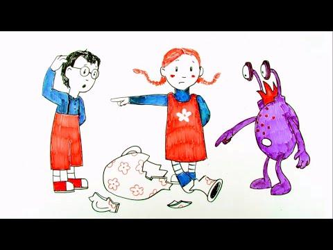 Ювик с планеты Ю - Прятки - Обучающие мультфильмы для детей - про  честность