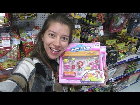 Toy Hunting #48! New Shopkins Happy Places, Grossery Gang, Gemma Stone Shoppie Doll, Our Generation