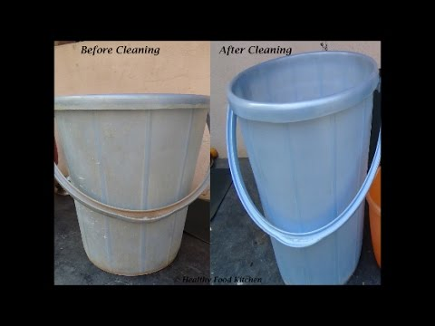 How to clean a Bucket - Easy technique for cleaning Bucket by Healthy Food Kitchen