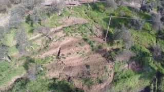 BLADE 350QX - Beginning of landslide (aerial footage)