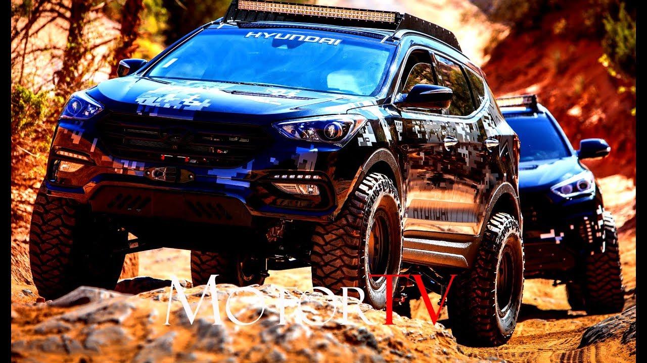 Sema Show 2017 L Rockstar Hyundai Santa Fe Sport Concept Clip
