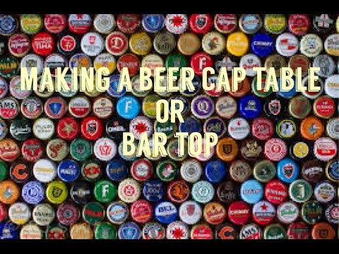 How to make a beer cap table or bar top youtube for How to make a table out of bottle caps