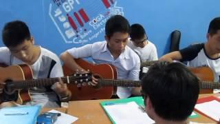 Tập guitar bài CHO CON (Học viên GPT school)