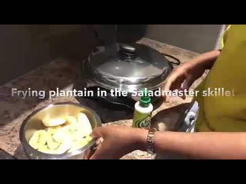 Fried Plantain In Salamaster Electric Skillet