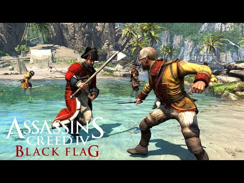 ASSASSIN'S CREED 4 BLACK FLAG NPC Wars & Ship Battles |