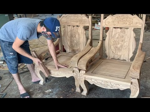#Amazing Techniques Carpenters Woodworking Skills – Assembly An Antique Chairs In A Modern Style